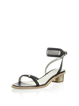 54% OFF Plomo Women's Jaquennetta Low Heel Sandal (Black)