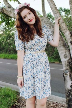 "Maria from ""Avenue M"". http://avenuemaria.blogspot.com/ #blogger #fashion #style #vintage #flowercrown #Australia #fashionblogger"