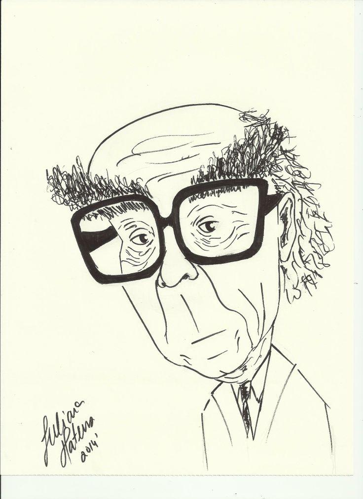 'José Saramago', cartoon, JulianaMateus'2014'February