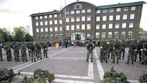 Korps Mariniers voor de  van Ghentkazerne als het kabinet doorzet is dit dus binnenkort verleden tijd