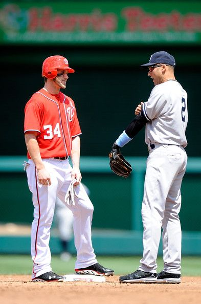 DEREK JETER and Bryce Harper PICTURES PHOTOS and IMAGES