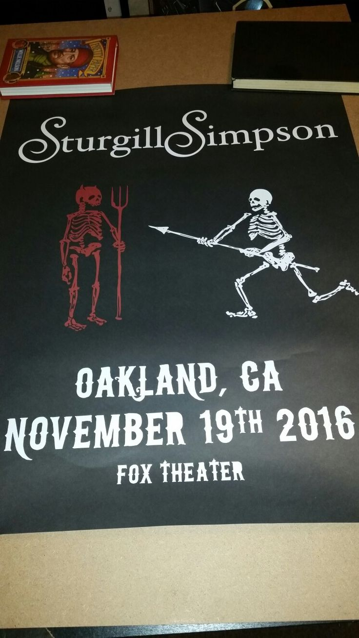 Sturgill Simpson poster Fox Theater Oakland California A