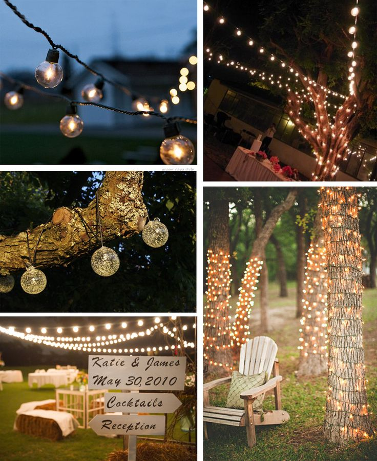 Lots of fun and creative outdoor lighting ideas. #Summer #OutdoorLights #PatioLights