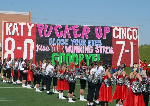 Image result for run through signs for football games ideas