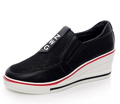 Oferta: 28.68€. Comprar Ofertas de Wealsex Mujer Malla De Zapatos De La Cuna De Tacon Deporte Zapatos Tacones Altos 4CM Sin Cordones Zapatos Cuñas Zapatos Para barato. ¡Mira las ofertas!