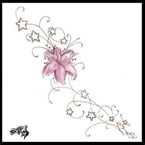 Flower Tattoos: side tattoo design | Flower Tattoo