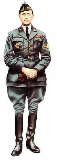 Major Belge, 1940 En tant que pilote du 2eme régiment de chasse, cet officier porte la tenue gris-bleu attribuée aux personnels navigants d'active. Tous les autres officiers non navigants et les officiers navigants réservistes continuent de porter la tenue kaki de l'armée de terre. Les marques de grade apparaissent au collet, l'insigne de pilote sur la manche gauche et l'insigne d'escadrille (ici le chardon) sur la poche de poitrine droite.