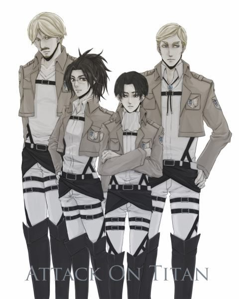 Mike, Hanji, Levi & Erwin