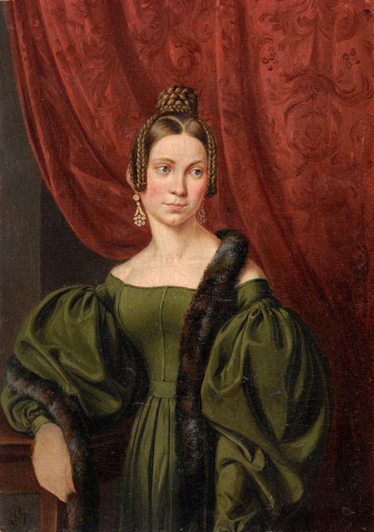 Joseph Karl Stieler (1781-1858) —  Portrait der Frau Maria von Dellefant   (1100×1564)