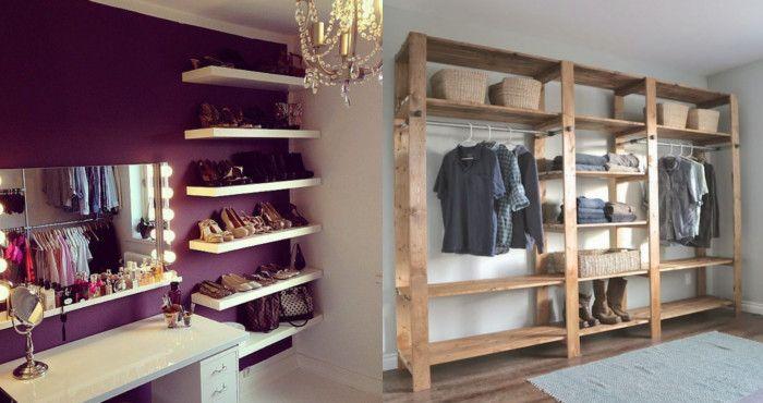 Transforma Tú Habitación Con Estos 10 Closets Económicos Y Prácticos