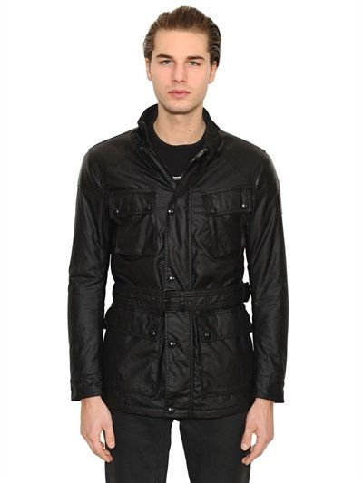 BELSTAFF SPEEDMASTER INSULATED WAXED FIELD JACKET, BLACK. #belstaff #cloth #casual jackets