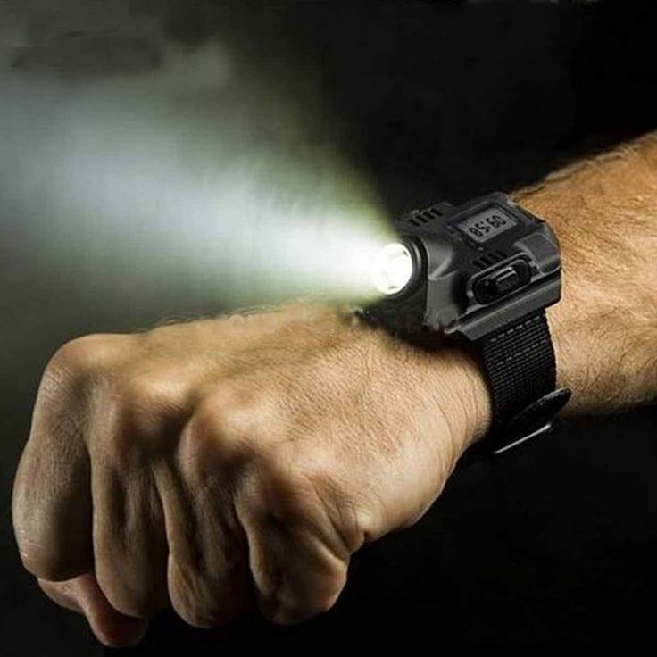 Outdoor Waterproof Rechargeable LED Wrist Flashlight Watch (DK-SDG01)