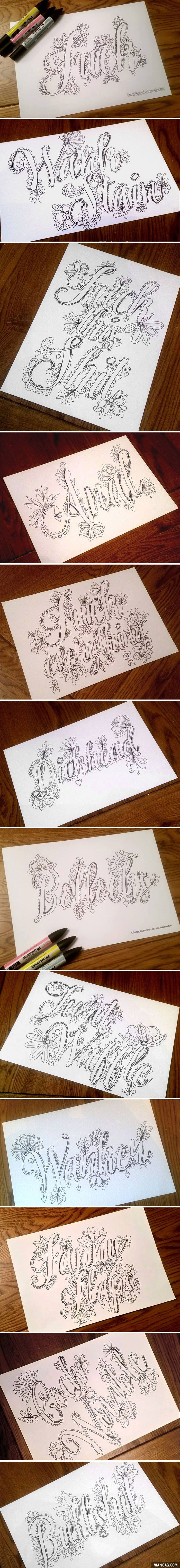 F word coloring pages - This Fancy Swear Word Coloring Book Will Stop You From Swearing To Coloring