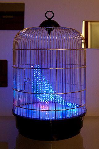 Makoto Tojiki makes gorgeous light sculptures. This one entitled The Blue Bird is especially lovely.