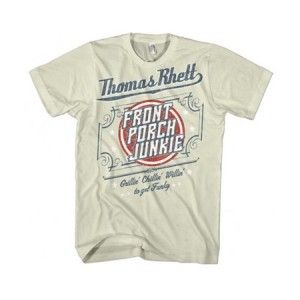 Thomas Rhett Front Porch Junkie Country Tee - Thomas Rhett Front Porch Junkie Country T-Shirt features lyrics from his song Front Porch Junkies.