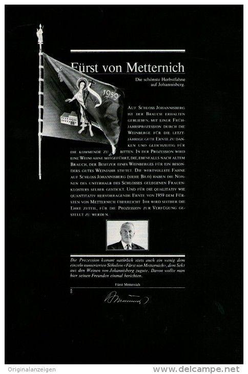Original-Werbung/Inserat/ Anzeige 1967   1/1-SEITE - FÜRST VON METTERNICH SEKT - ca. 250 X 160 mm