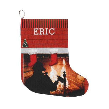 personalized firefighter collectible large christmas stocking - home decor design art diy cyo custom