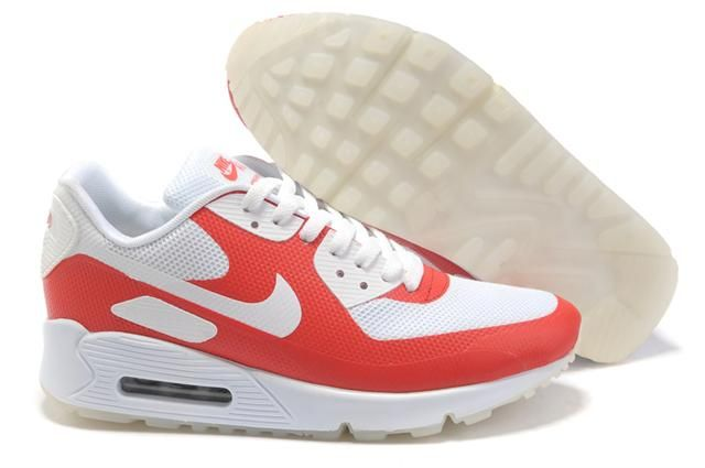 Only$71.00 NIKE AIR MAX 90 HYPERFUSE WHITE RED Free Shipping!