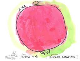 My house is an apple - a big red apple Lara, 9 years