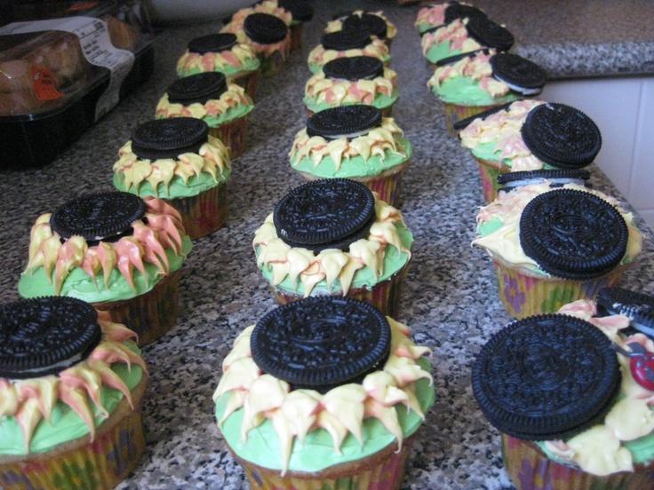 Sunflower Vanilla Cupcakes