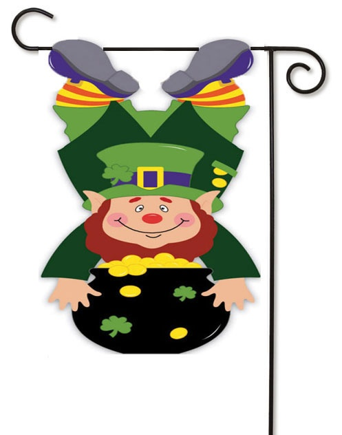 Wonderful Bottoms Up Leprechaun Garden Flag $11.99. Perfect Flag To Add To Your St.  Patricku0027s