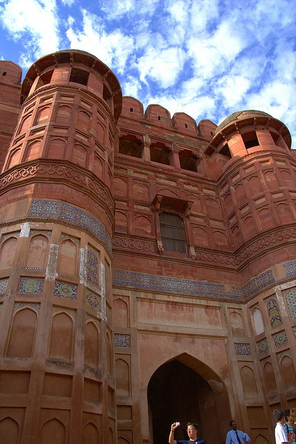 The Gate of Agra Fort in Agra, India -- the same town as the Taj Mahal and definitely worth a visit. This fort/palace is amazing!