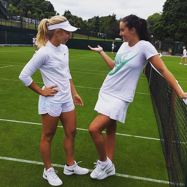 Laura Robson and Daria Gavrilova (via Daria's Instagram)