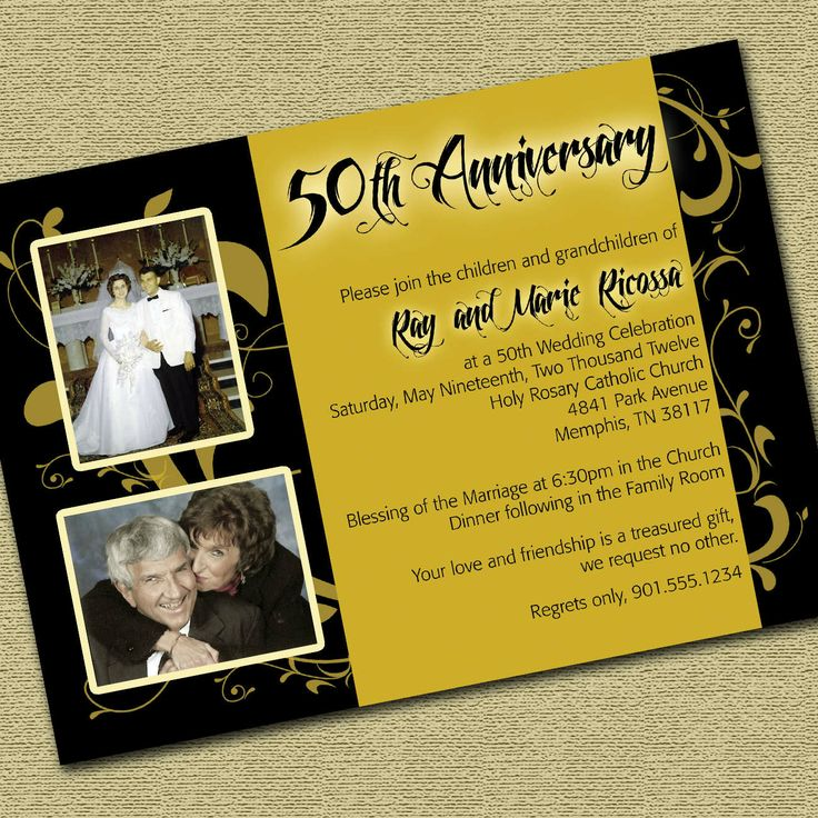 Printable 50th Wedding Anniversary Invitations 49 best