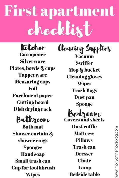 Moving into your first apartment is stressful and can be difficult to know what to need! Use my checklist to keep track of everything you have and everything you need for your first apartment.