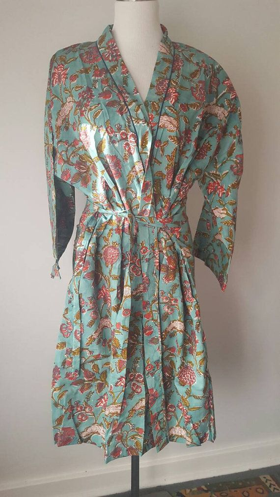 Check out this item in my Etsy shop https://www.etsy.com/au/listing/485190949/cotton-bathrobe-indian-block-print