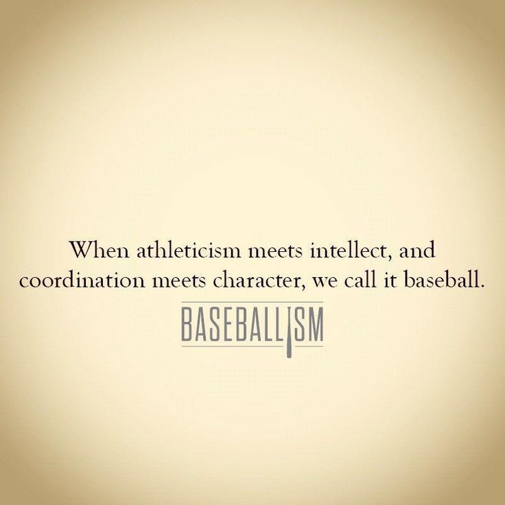 Baseballism...certainly NOT football:)