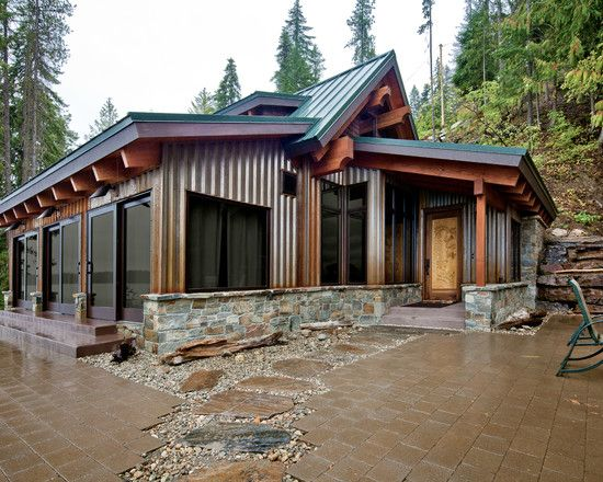 25 best ideas about metal siding on pinterest backyard for Metal cabins homes