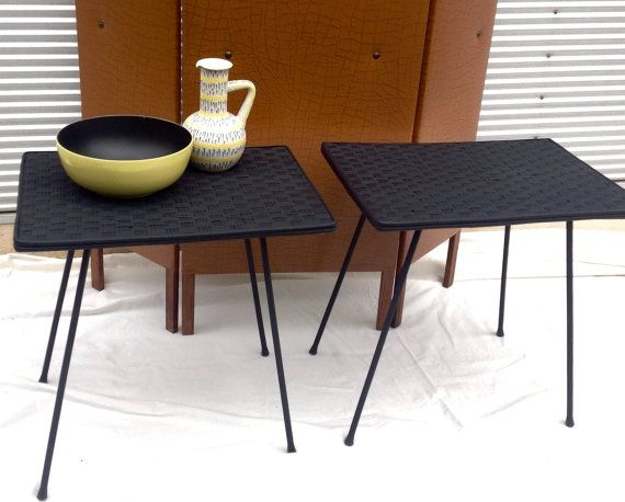 Retro 60's Cane Side or Bedside Tables x 2 - Restored etsy.com/shop/littlebitmelq $125 for both