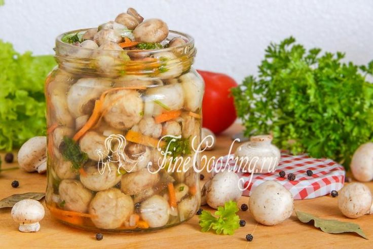 Домашние маринованные шампиньоны - рецепт с фото