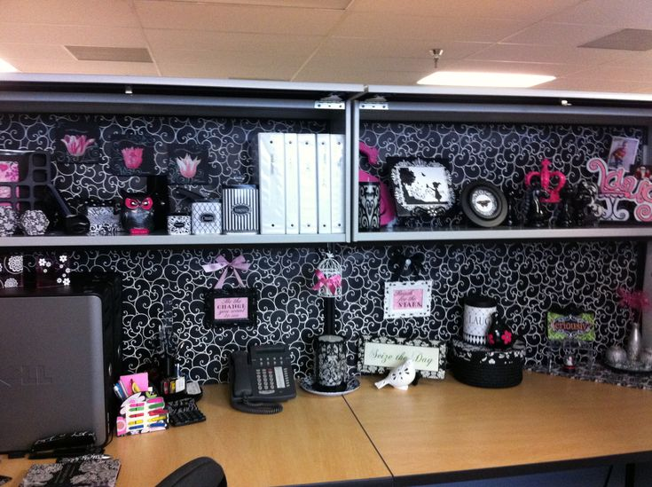 Office cubicle decorating cubicle decor pinterest Office cubicle design ideas