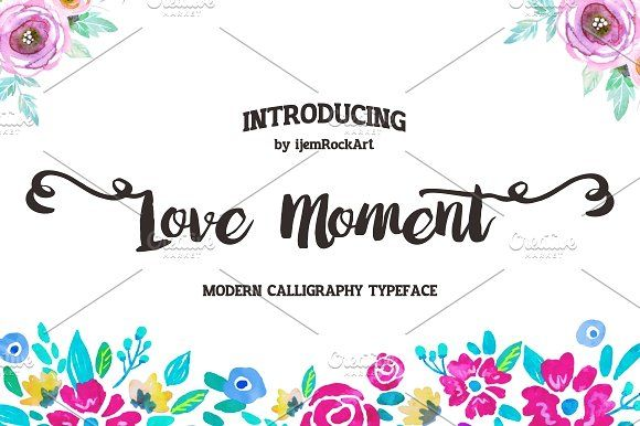 Love Moment by Ijemrockart / Letterplay on @creativemarket