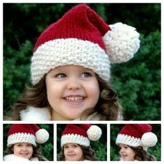 Bring the Joy of Christmas into your crocheting! This festive classic Santa hat will bring warmth & smiles to all !  Free pattern & video--> http://wonderfuldiy.com/wonderful-diy-crochet-classic-santa-hat-with-free-pattern/ #crochet #diy