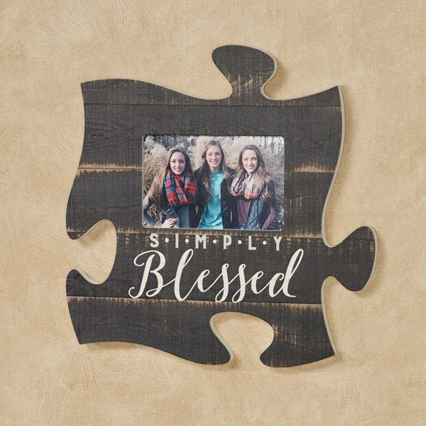 Simply Blessed Photo Frame Puzzle Piece Wall Art Picture This