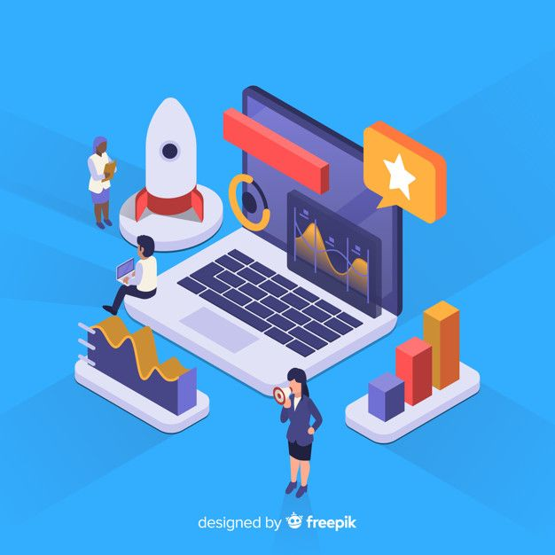 Isometric business infographic Free Vector