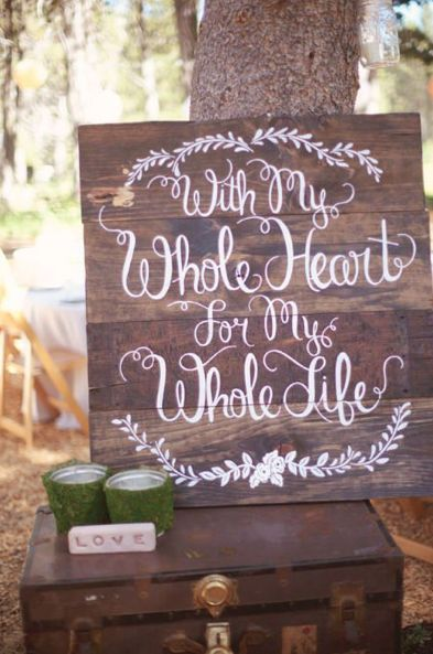 Pallet Sign Wedding Ideas
