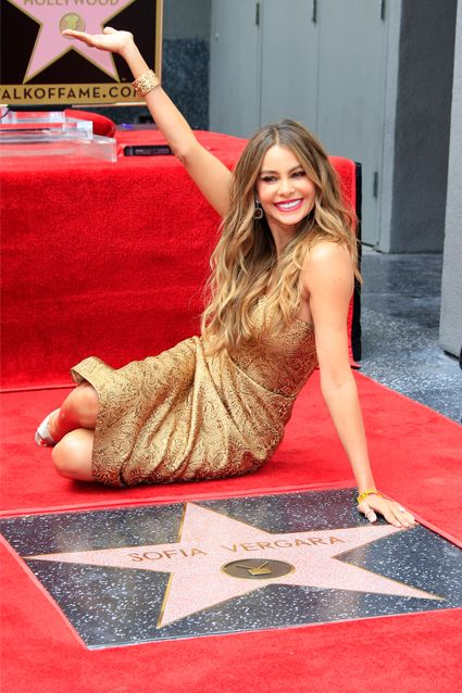 SOFIA VERGARA The Modern Family actress shined in gold as she sat by her star on the Hollywood Walk of Fame on May 7. Vergara received the 2,551st star on the famous street.