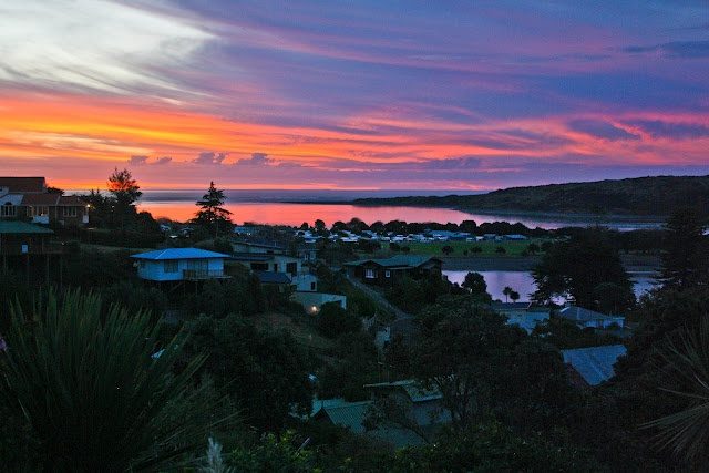 Raglan, Aotearoa (Sunset in Raglan, New Zealand - Summer 2012.  c. MarieBoyer)