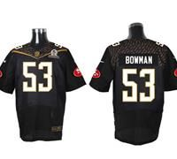 Nike San Francisco 49ers #53 NaVorro Bowman Black 2016 Pro Bowl Men's Stitched NFL Elite Jersey