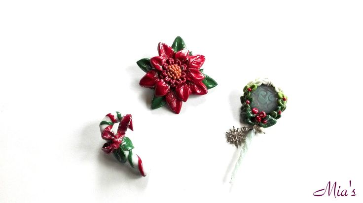 Brooches.  #fimo  #brooch  #Christmas