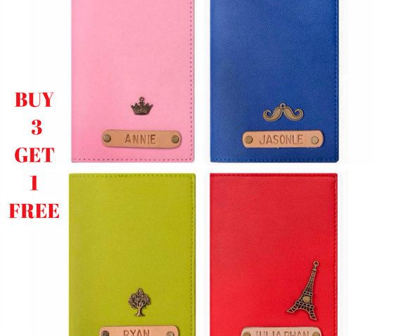 Personalized Leather Passport Covers Custom by Alicehandmadeworld