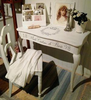 Nätt skrivbord i rokokostil Haute Couture