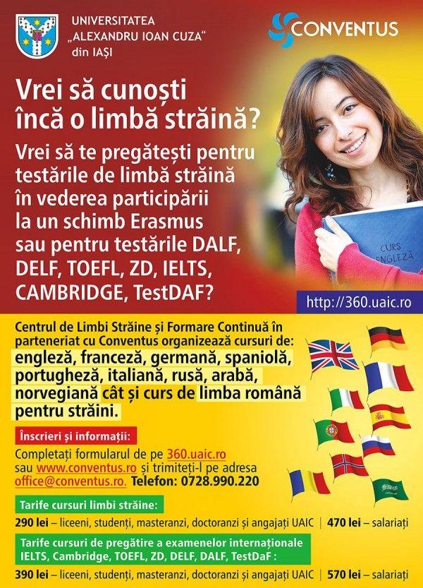 Cursuri de limbi straine la UAIC