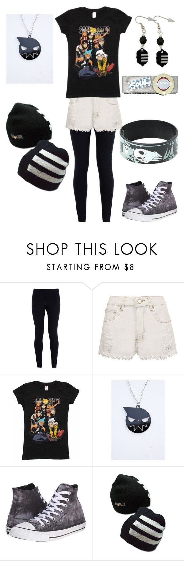"""""""soul eater fan unisex outfit"""" by batman-phan ❤ liked on Polyvore featuring NIKE, WearAll and Converse"""