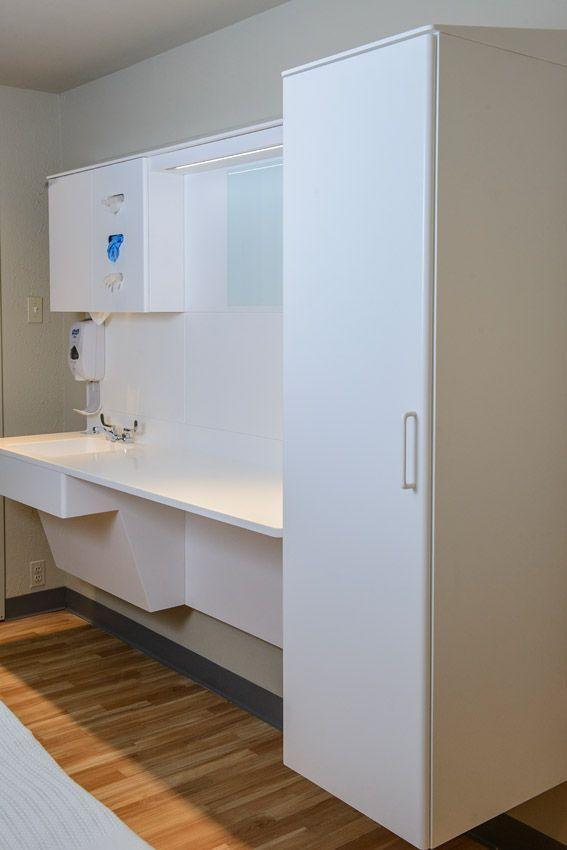 Patient Room Design: Sink, Wardrobe And Countertop
