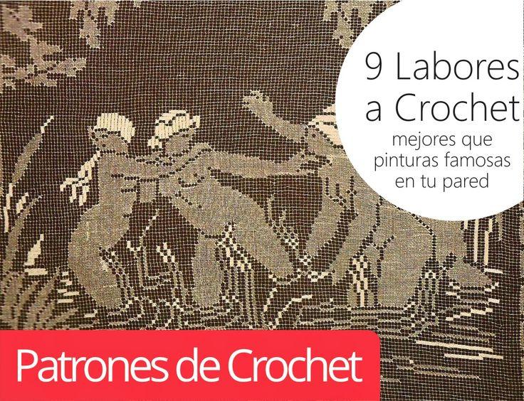 9 Labores a Crochet mejores que pinturas famosas en tu pared ~ Patrones de Crochet